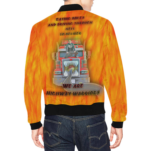 Highway Warrior Men's All Over Print Casual Jacket