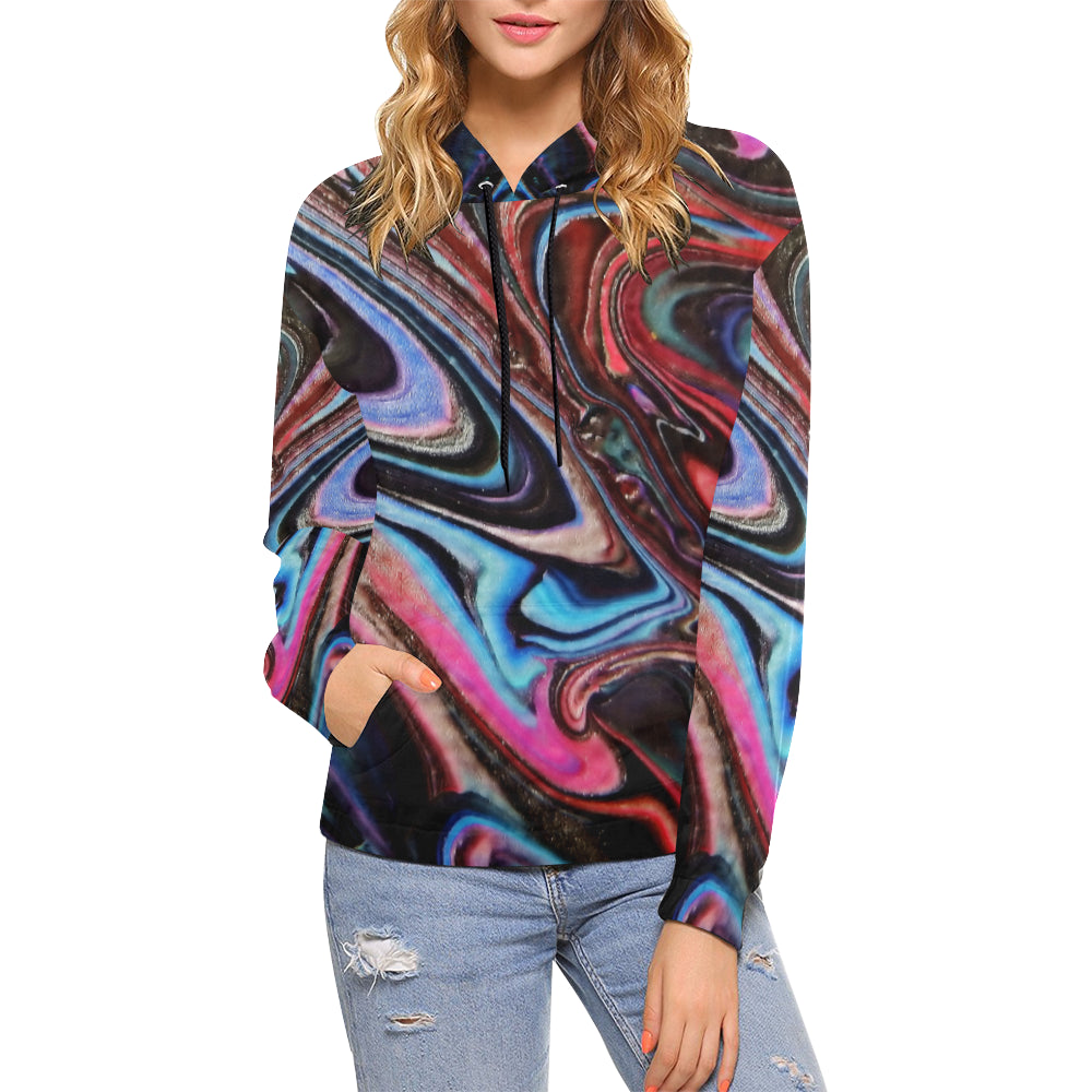 Alien World Women's All Over Print Hoodie (USA Size)