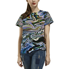River Convergence Women's All Over Print T-shirt (USA Size)
