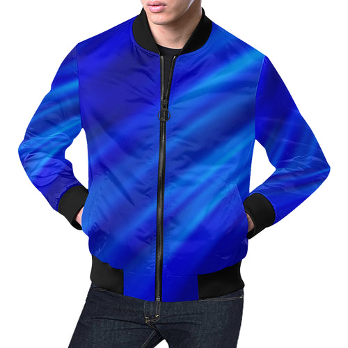 Blue Waves Men's All Over Print Casual Jacket