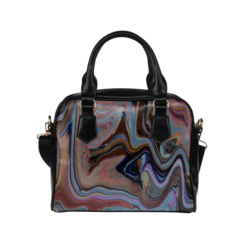 Wave World Shoulder Handbag