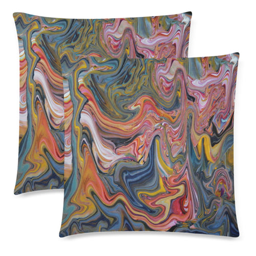 Swirly Whirly Throw Pillow Cover 18