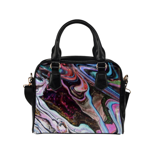 Swirls with Vortex Shoulder Handbag