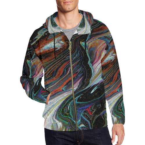 Wonkyverse Men's All Over Print Full Zip Hoodie