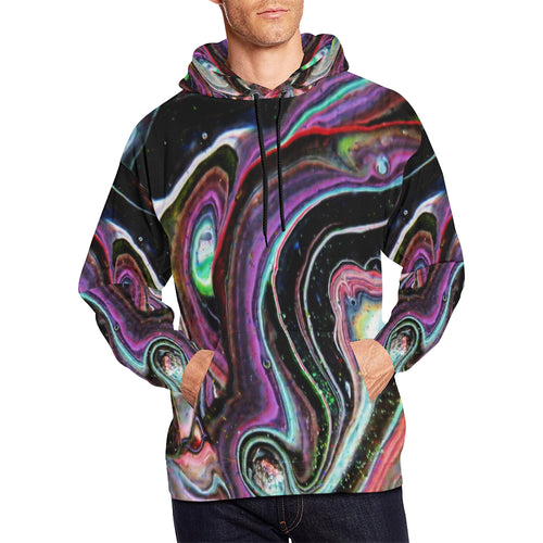 Bright Lines Men's All Over Print Hoodie (USA Size)