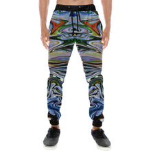 River Convergence Men's All Over Print Casual Baggy Slacks