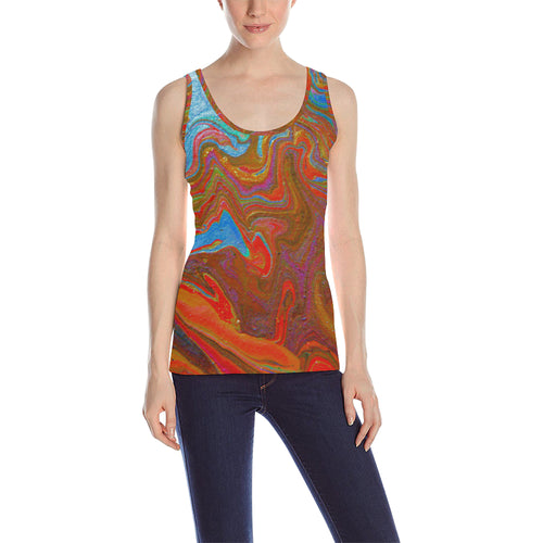 Wonderful Colorworld Women's All Over Print Tank Top