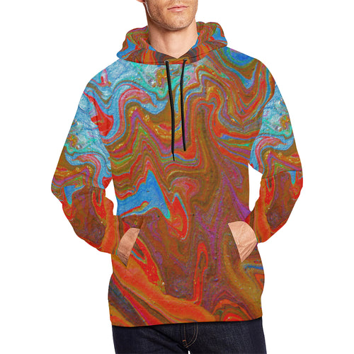 Wonderful Colorworld Men's All Over Print Hoodie Large Size (USA Size)