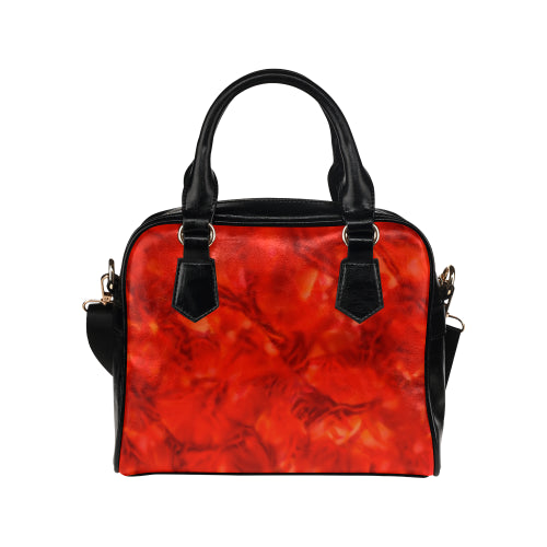 Red Chaos Shoulder Handbag