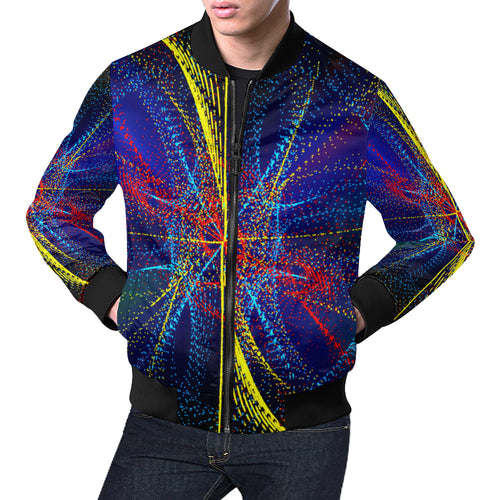 Dotswirl Men's All Over Print Casual Jacket