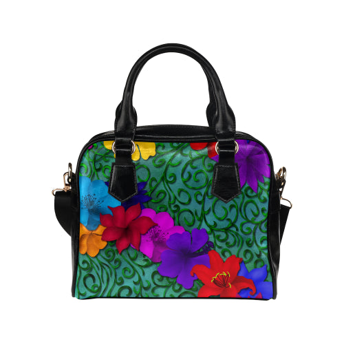 Flowers and Vines Shoulder Handbag