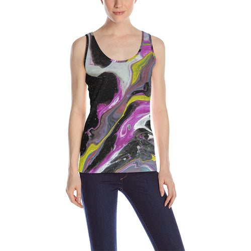Colorful Nebular Women's All Over Print Tank Top