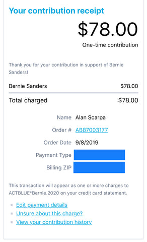 Bernie Sanders Donation by Feelin' Radical