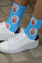 Load image into Gallery viewer, Bernie Sanders Socks - Blue - Feelin' Radical