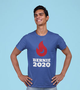 Bernie Sanders Unisex T Shirt - 2020 Flame Bern - Feelin' Radical