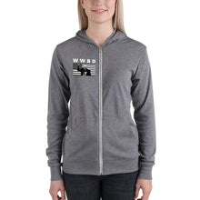 Load image into Gallery viewer, What Would Bernie Do? Unisex Zip Hoodie - Feelin' Radical