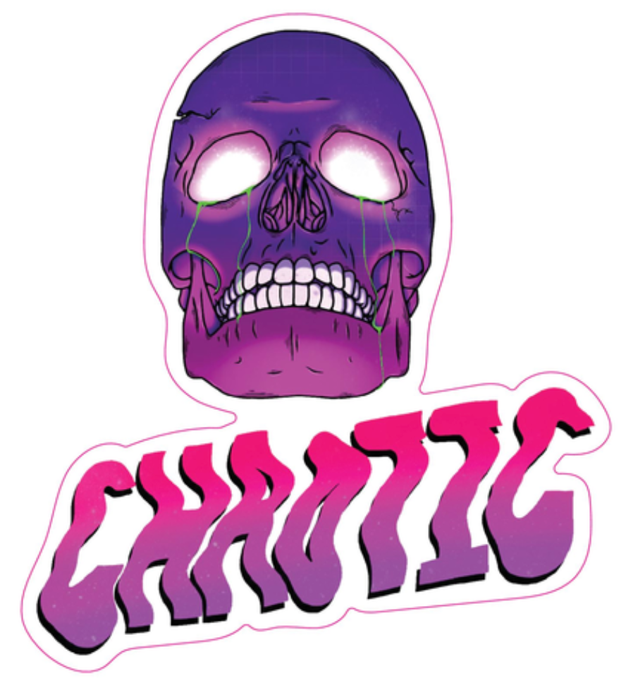 CHAOTIC SKULL - Exclusive Tour Sticker