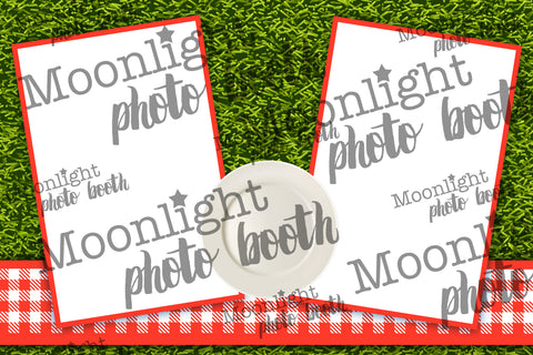 'Picnic on Grass' - Two (2) Photo Strip