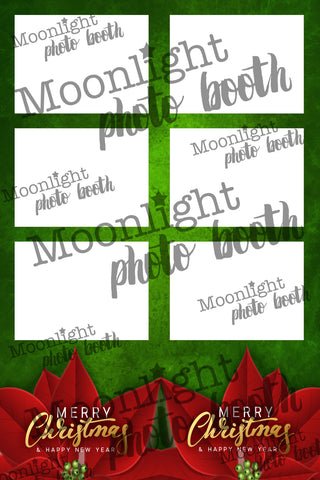 'Poinsettia Christmas Flower' - Three (3) Photo Strip