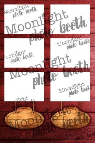 'Red Wood Sign' - Three (3) Photo Strip