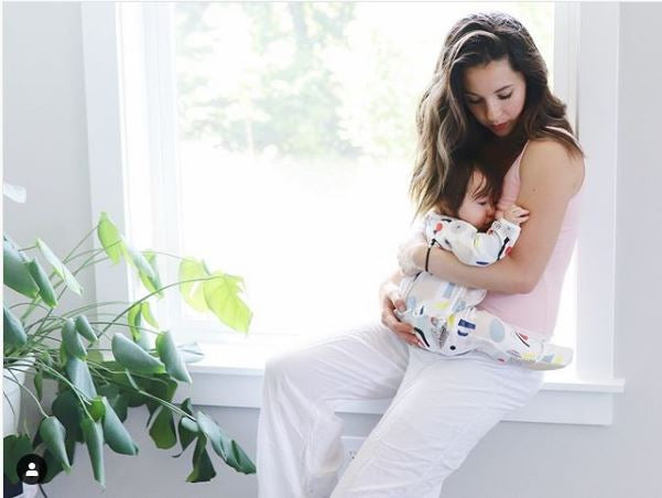 """The Bshirt is so comfortable & the flap makes nursing so easy..."" @ashleypeavey"