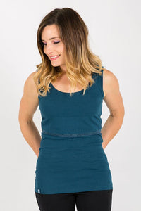Organic Bshirt Lift the Flap in Tidal Teal