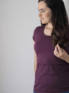 Organic Bshirt T-shirt in Plum