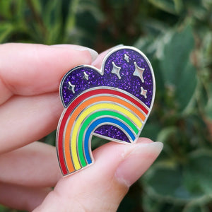 Celebrating Our Rainbow, Remembering Our Stars - Enamel Pin (Bright)