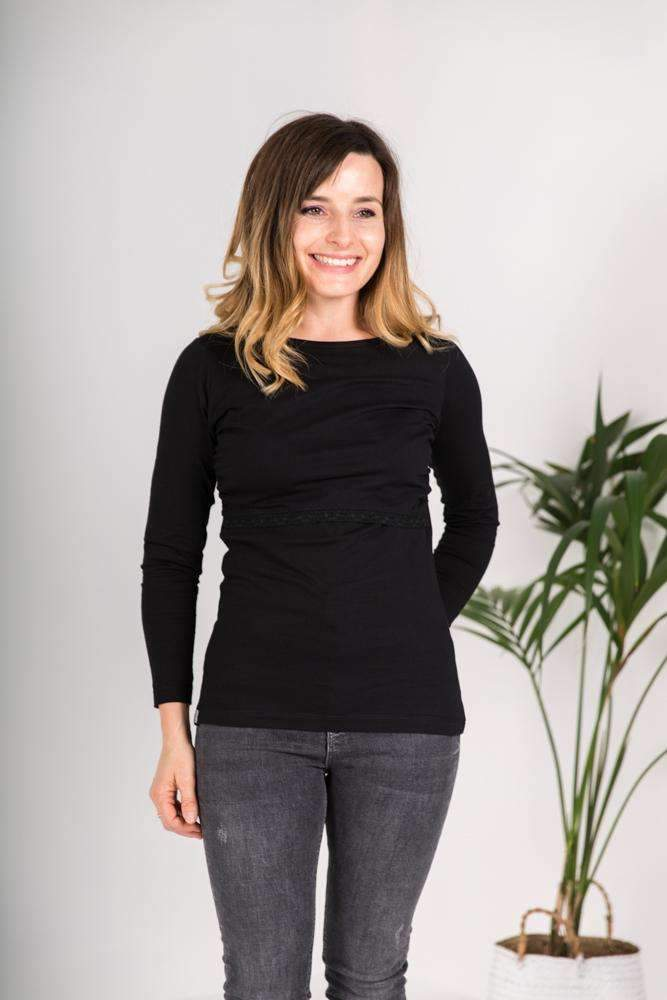 Bshirt Long Sleeves in Black