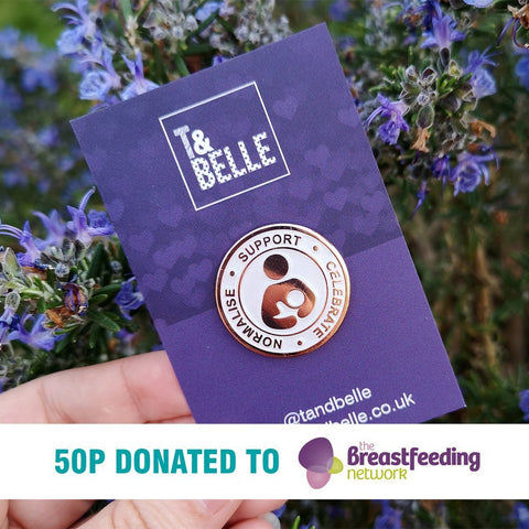 Support Celebrate Normalise Breastfeeding Enamel Pin
