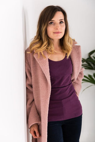Organic Bshirt Long Sleeves in Plum
