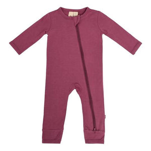 Zipper Romper - Plum