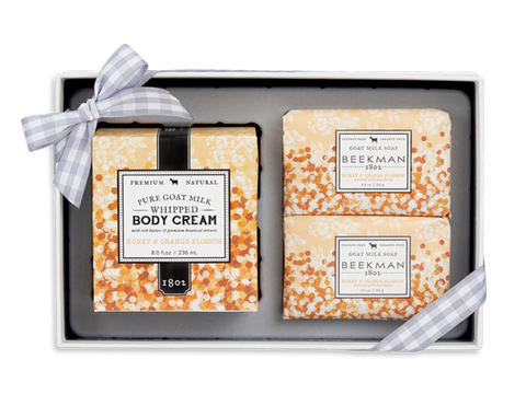 Soap & Body Cream Trio - Honey Orange Blossom