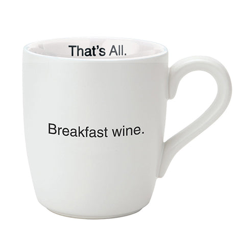 "Mug ""Breakfast Wine"""