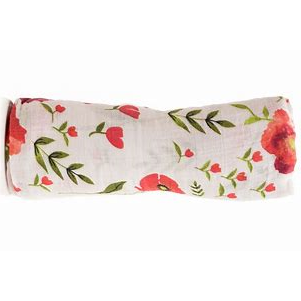 Muslin Swaddle - Summer Poppy