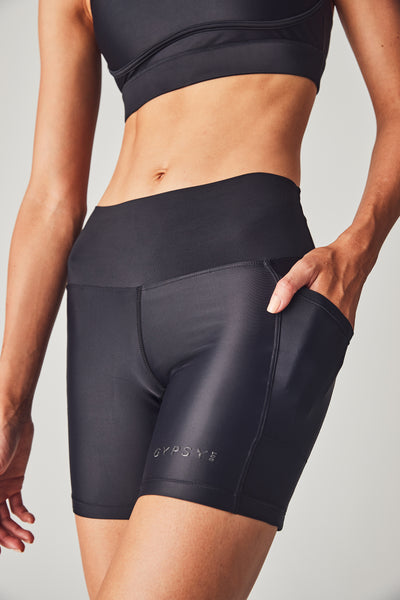 Bi Colour Biker Short - Nero