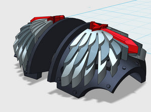 Winged Sword - T:2a Cataphractii Shoulder Sets 3d printed