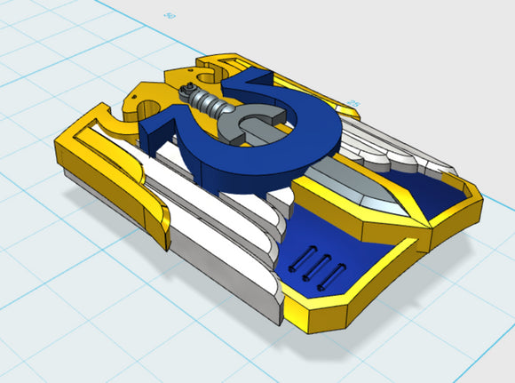Ultra Legion - Invictus Shield (no gun) 3d printed Medium = 5 Shields