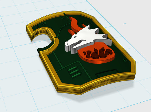 10x Ember Flame - Marine Boarding Shields 3d printed with hand