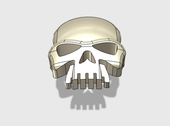 60x Skull : Shoulder Insignia pack 3d printed
