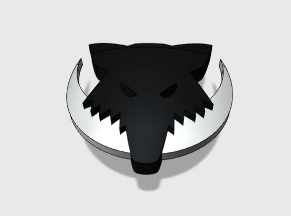 60x Moon Wolves : Shoulder Insignia pack 3d printed