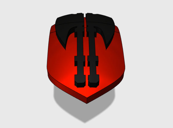 60x Executioners : Shoulder Insignia pack 3d printed