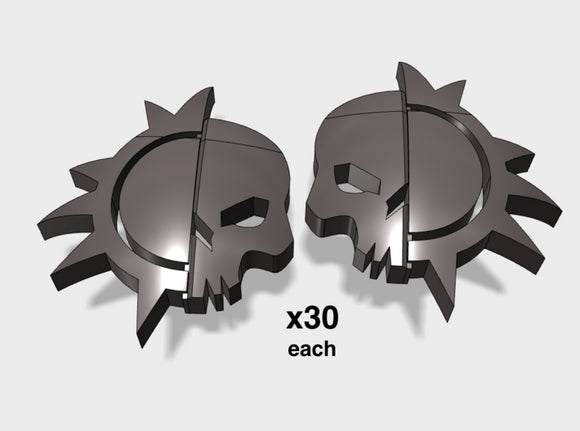 60x Dusk Raiders: Left & Right Shoulder Insignias 3d printed