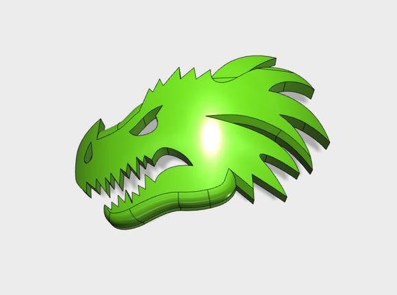 60x Dragon Head - Shoulder Insignia pack 3d printed