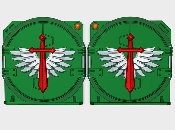 Winged Sword : Deimos APC Round Doors 3d printed