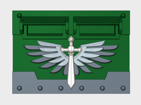 Winged Death Sword : Standard APC Frontplate 3d printed