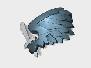 60x Black Wing - Shoulder Insignia pack 3d printed