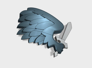 60x Black Wing - Right Shoulder Insignias 3d printed