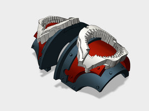5x Shark Jaws - T:2a Cataphractii Shoulder Sets 3d printed