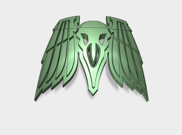 60x Death Ravens - Shoulder Insignia pack 3d printed